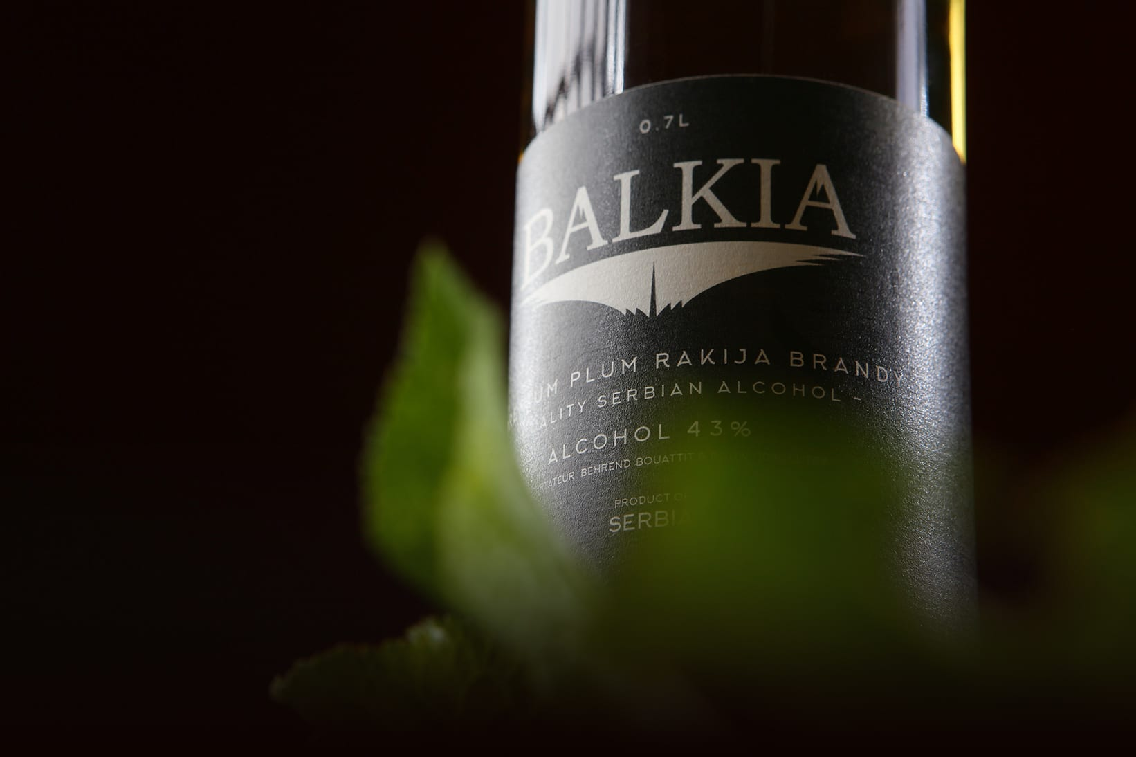Balkia - Swiss brand of plum brandy typical of the Balkans