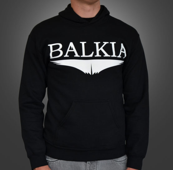 Balkia - Hoodie foncé avec logo de la marque Balkia
